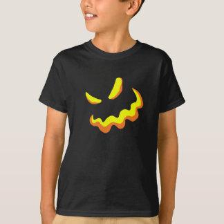 T-shirt Style effrayant B de visage de citrouille