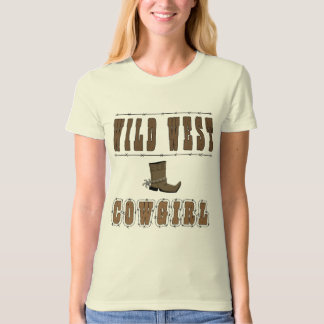 T-shirt Style occidental sauvage de cow-girl