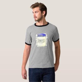 T-shirt Stylo de pot de mayonnaise et dessin de craie