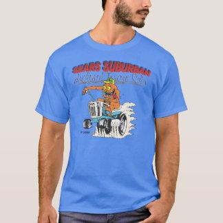 T-shirt suburbain de club de tracteur de jardin de
