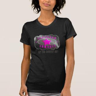 T-shirt suburbain de dames de cowboys