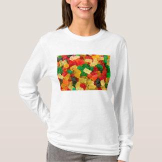 T-shirt Sucrerie colorée par arc-en-ciel gommeux d'ours