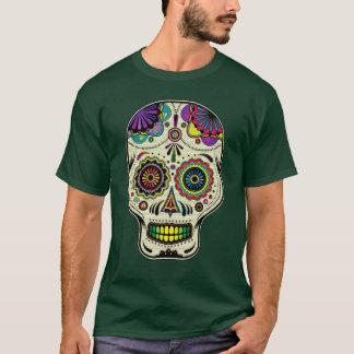 T-shirt Sucrez le jour d'art de crâne de la chemise morte