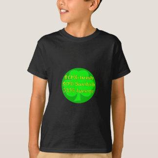 T-shirt Suédois de l'Irlandais 50% de 50% 100%