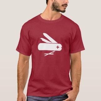 T-shirt suisse de pictogramme de couteau militaire