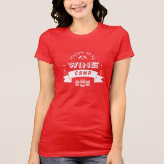 T-shirt Suivez-moi pour wine le camp [rouge]