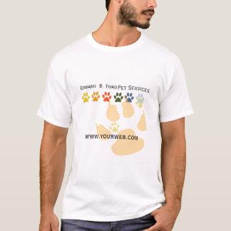 T-shirt Suivez mon Groomer de soin d'animal de compagnie