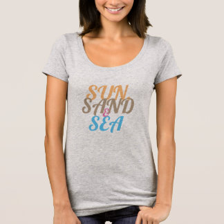 T-shirt Sun, sable, et mer