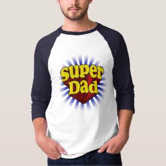 T-shirt superbe frais bleu jaune rouge de papa
