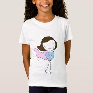 T-Shirt Superbes, pièce en t de fille (cheveux bruns)