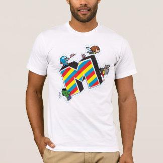 T-shirt Superhéros de Kawaii sur M rayé