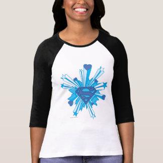 T-shirt Superman a stylisé le logo bleu de coeurs de