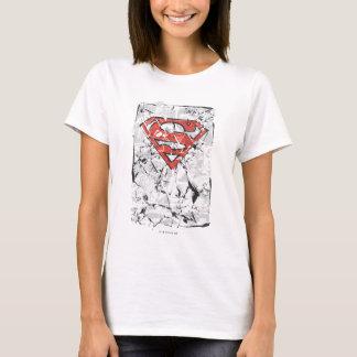 T-shirt Superman a stylisé le logo comique chiffonné par |