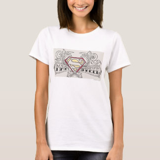 T-shirt Superman a stylisé le logo de texture de |