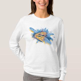 T-shirt Superman a stylisé le logo d'éclaboussure de |