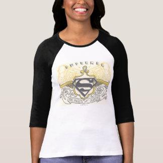 T-shirt Superman a stylisé le logo dessiné jaune de trains