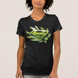 T-shirt Superman a stylisé le logo vert de bouclier de |
