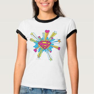 T-shirt Superman a stylisé le rose de | avec le logo de