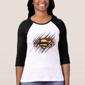 T-shirt Superman a stylisé | logo noires et de rouge de
