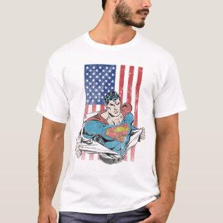 T-shirt Superman et drapeau des USA