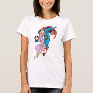 T-shirt Superman et Lois dans le rose
