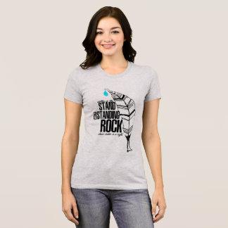 T-shirt Support avec la roche debout