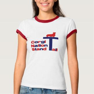 T-shirt Support de nation de corgi grand