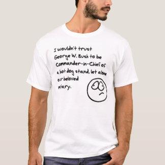 T-shirt Support du hot-dog de Bush