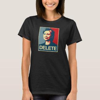 T-shirt SUPPRESSION - affiche d'Anti-Hillary - -