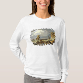 T-shirt Surf sur une côte rocheuse, 1835
