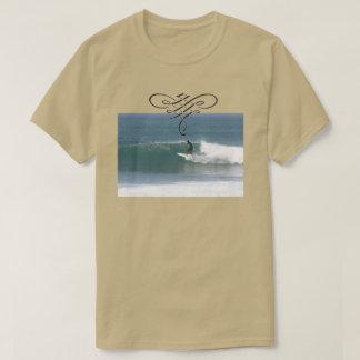 T-shirt surfant beige frais pour les hommes