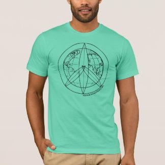 T-shirt surfant de la paix 4