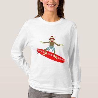 T-shirt Surfer de singe de chaussette
