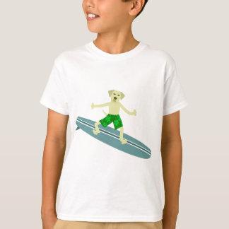 T-shirt Surfer jaune de labrador retriever
