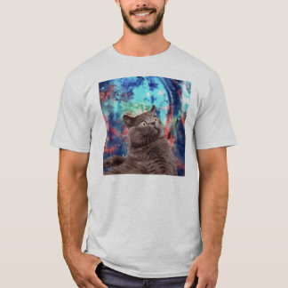 T-shirt Surprise de chat de galaxie