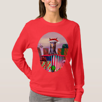 T-shirt Surprise de Noël de dobermann