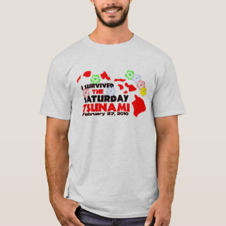 T-shirt Survivant de tsunami (2 dégrossis)