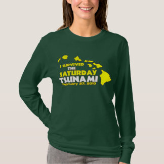 T-shirt Survivant de tsunami de samedi
