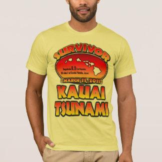 T-shirt Survivant - tsunami de Kauai, Hawaï