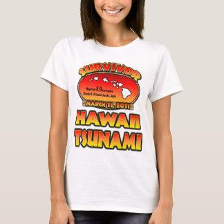 T-shirt Survivant - tsunami d'Hawaï - j'ai survécu