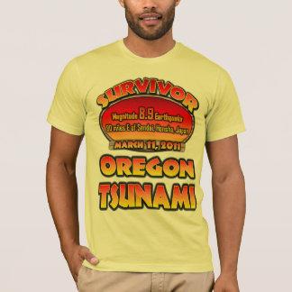 T-shirt Survivant - tsunami - l'Orégon