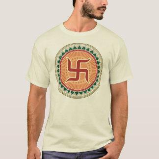 T-shirt Svastika avec le style indien traditionnel Mandana