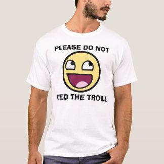 T-shirt svp n'alimentez pas au troll le smiley
