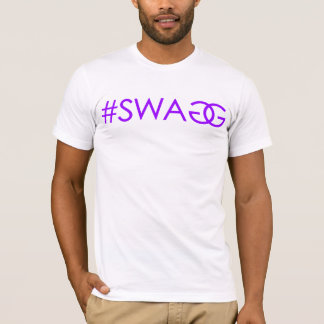 T-shirt #SWAGG (pourpre)
