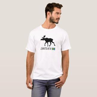 T-shirt Sweden Elk and drapeau