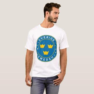T-shirt Sweden, Sverige, 3 crowns, sticker, circle
