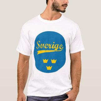 T-shirt Sweden, Sverige, 3 crowns, sticker, circle (2)