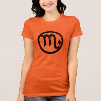 T-shirt Symbole astrologique affligé de Scorpion