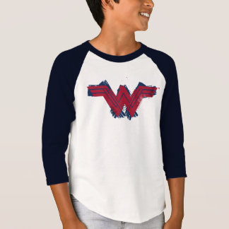 T-shirt Symbole balayé par | de femme de merveille de