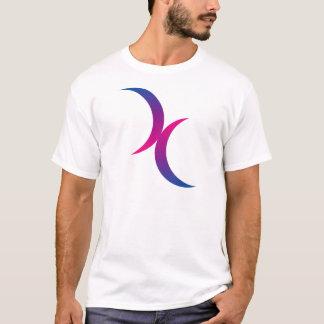 T-shirt Symbole bisexuel de lune